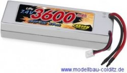 Carson Hard Cased Lipo 7.4 Volts 3600 Mah