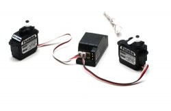 Futaba RS-124F Ultra mini Rx & 2 S3108 Servos